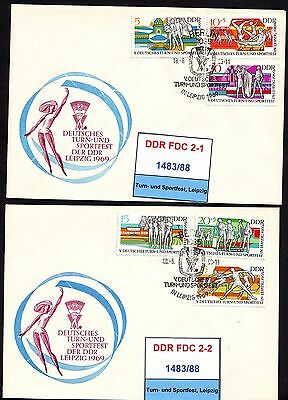 DDR-FDC 1483/88, gestempelt, s. scan
