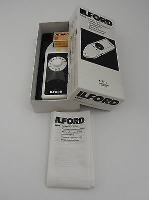 ILFORD Exposure Meter - Original Box w/Battery, Instructions