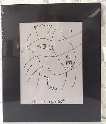 Jello BIAFRA 2002 Wildlife Fundraiser Doodle Sketch signed Dead Kennedys