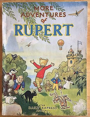 RUPERT ORIGINAL ANNUAL 1947 Inscribed  Unclipped Bright Clean Example VG PLUS