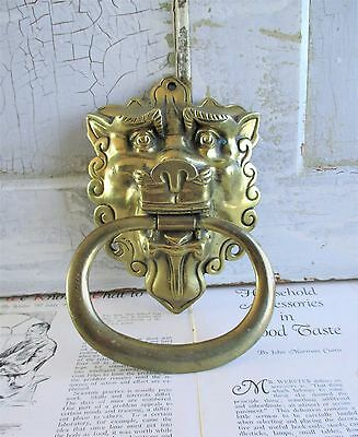 Vintage Lion Brass Door Knocker