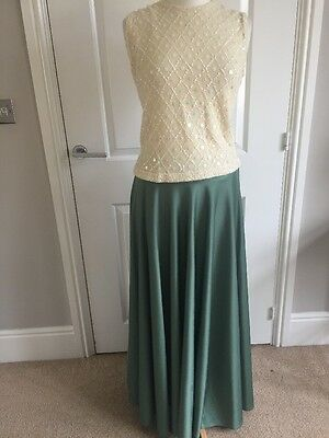 VINTAGE MAXI SKIRT EVENING PARTY WEDDING 70s