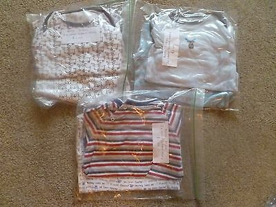 6 x 3-6m boys long sleeved vests, good condition, mixed brands