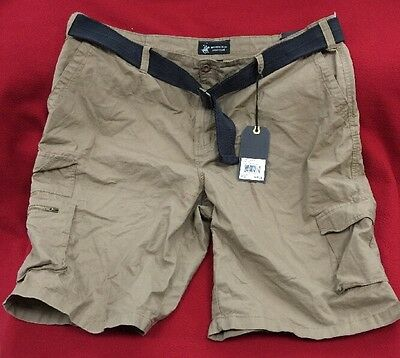 Men's Polo Club Beverly Hills Big and Tall Khaki Beige Cargo Shorts Size 46 NWT