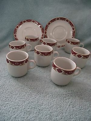 John Maddock & Sons - Ultra Vitrified China - Coffee Cans and Saucer