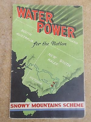1956 Water power for the nation Snowy Mountain scheme brochure