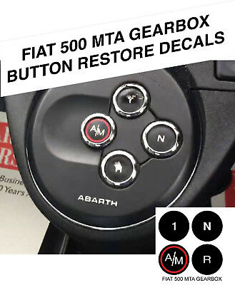 Fiat 500 Mta Gearbox Worn Peeling Button Repair Decals Stickers