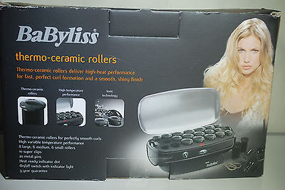 Babyliss 3035U Thermo Ceramic Rollers - Large Clips & Pins - New in Box