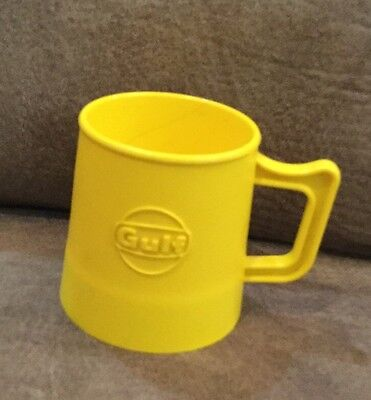 Gulf Oil Chemicals Yellow Plastic Mug