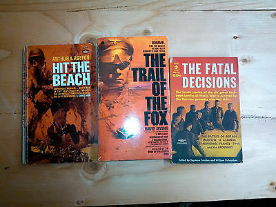 book lot: 3 paperbacks from the 1970s on World War II: Hit the Beach, etc.