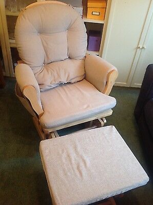 Cream Gliding Nursing Chair With Footrest