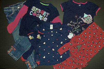 Girls Gymboree 8 Pc Set Sz 5 Tops, Jeans, Leggings + More Scottie Terrier Dogs