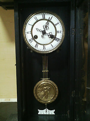 Original and rare Wall Clock Friedrich Mauthe of 1894 - working