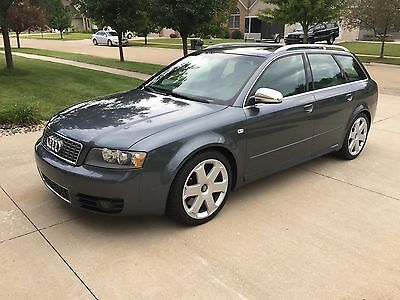 2004 Audi S4  2004 Audi S4 Avant 6MT Manual Transmission 4.2L V8 Wagon Dolphin Gray