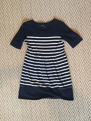 GAP Girls Nautical Blue/White Striped Dress Size 8 (Med)