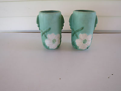 A Pair Of Vintage Weller Pottery Vases