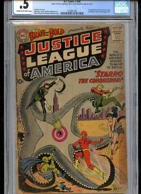 Brave and the Bold #28 1st Justice League CGC 0.5 Complete