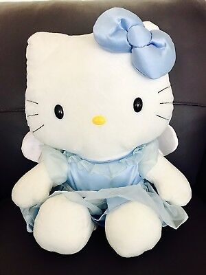 """Rare Adorable Large Sanrio 20"""" Hello Kitty Ballerina With Angel Wings"""