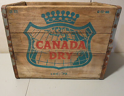 Vintage Canada Dry Wooden Crate