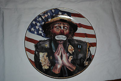 "Emmett Kelly Jr God Bless America Plate 8.5"" - Limited Edition"