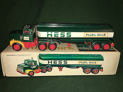1977 Hess Tanker Truck, VERY RARE BLACK SWITCH lights work, vintage, collectible