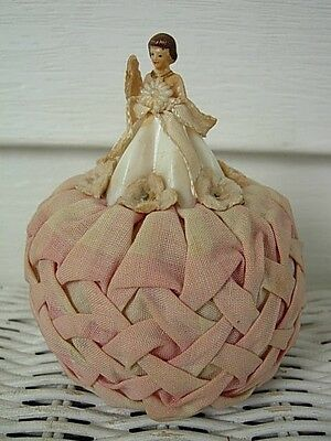 Vintage Old Pin Cushion Pink Plastic Doll