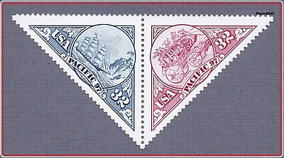 Scott #3130-31 Pacific '97 Intl Stamp Expo 32c (Attached Pair) 1997 - Mint NH
