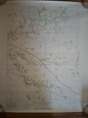Vintage Map Indiana Dept. Natural Resources Darlington, IN Quadrangle Montgomery
