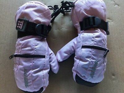 Gordini Skiing Snowboarding Waterproof Insulated Girls Toddlers Mittens Pink NWT