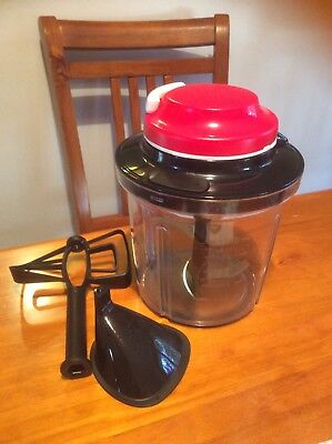 Tupperware Extra Chef Black And Red Chop Blend Whip Used Once Excellent Cond
