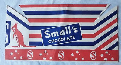 1960's SMALL'S CHOCOLATES  EASTER SHOW EXPO VENDORS HAT SHOW BAG ADVERTISING