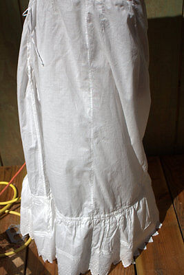 Vintage European petticoat and cotton camisole