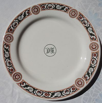 1958 DJ DAVID JONES BOARD ROOM RESTAURANT CRESTED LOGO 20cm PLATE  HOTEL WARE