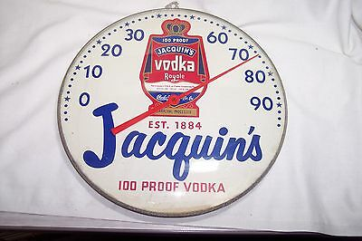 Old Vintage Jacquin's Vodka 10 Inch Thermometer
