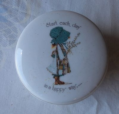 Holly Hobbie Start Each Day In A Happy Way Lidded Trinket Box