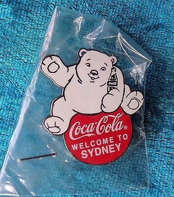 Welcome To Sydney Coca-Cola  Bear Pin Badge