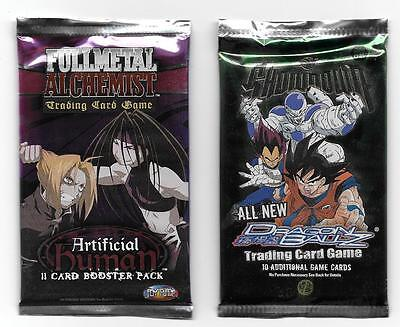 Lot of (2) Trading Card Game Booster Packs-Dragon Ball Z & Full Metal Alchemist!
