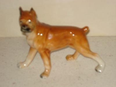 Bone China Boxer Figurine
