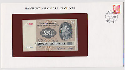 1979 DENMARK 20 KRONER PICK 49a BANKNOTES OF ALL NATIONS UNC