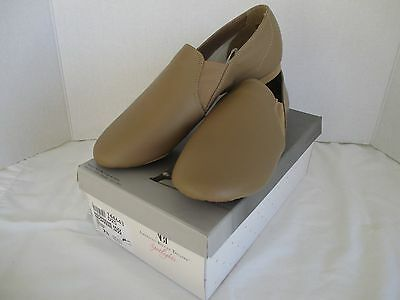 Women's American Ballet Theatre ABT Tan Leather Jazz Dance Shoes, NEW Size 7 1/2
