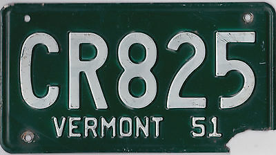 🌎⚜🐦⚜🌎   Authentic Usa 1951 Vermont License Plate.