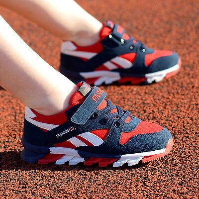 Boys Girls Lace Up Running Athletic Shoes Kids Outdoor Sports Hiking Sneakers