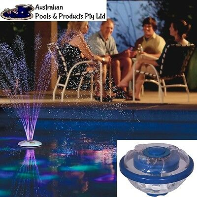 NEW 2017 UNDERWATER FLOATING LIGHT FOUNTAIN Pool LED Waterproof Floating Party