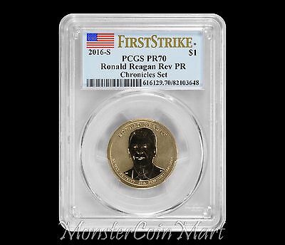 2016-S Ronald Reagan Coin and Chronicles Dollar PCGS Reverse PR70 First Strike