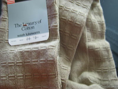 Vtg Knee High Socks tan beige cotton Ergee texture Knit NEW w/tags School Girl