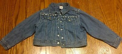EUC Girls GYMBOREE Denim Cotton Jean Jacket~Size 4 Years