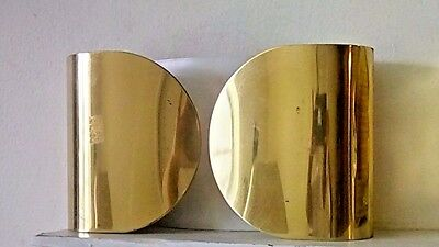 Beautiful Vintage Brass Double Lighted Wall Sconce Light Fixture Lamp