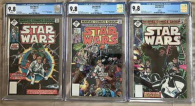 Star Wars #1 #2 & #3 ALL CGC 9.8 NM/MT WHITE Pages New Slab RARE Reprint