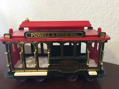 Ghirardelli Chocolate San Francisco Plastic and Wood Trolley Cable Car #39
