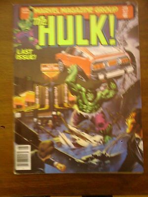 Hulk  Comic Magazine #27  Marvel 1981 Last Issue Vg